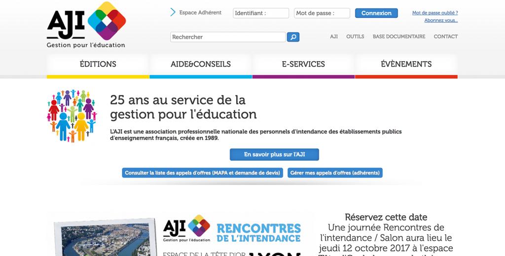 AJI – Site internet