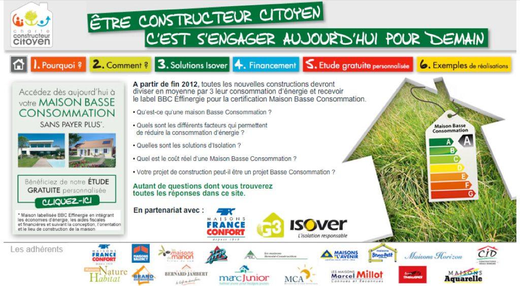 Maison France Confort et Isover pour une construction citoyenne