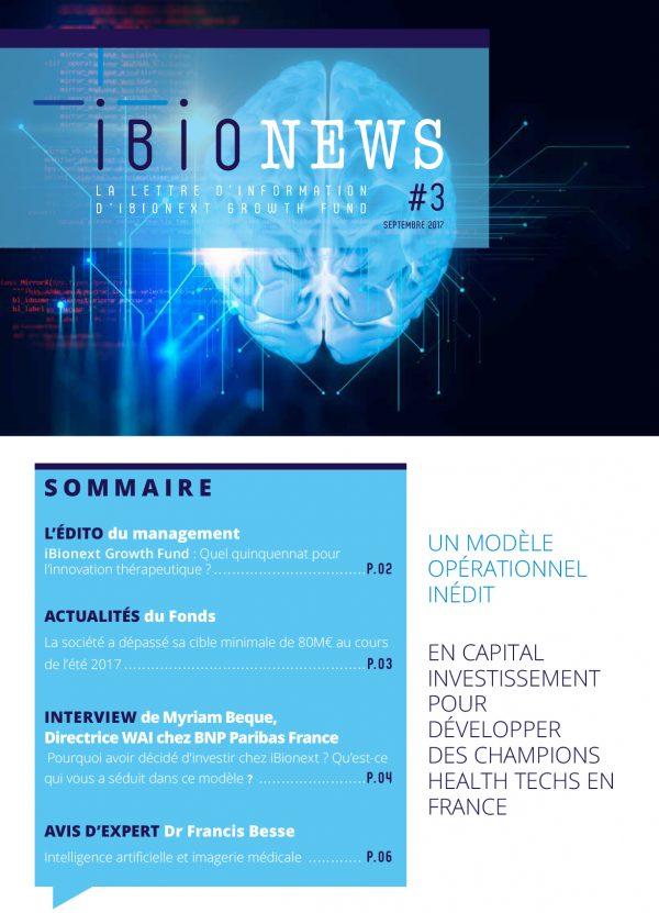 Ibionews – Conception de la newsletter bimestriel de Ibionext