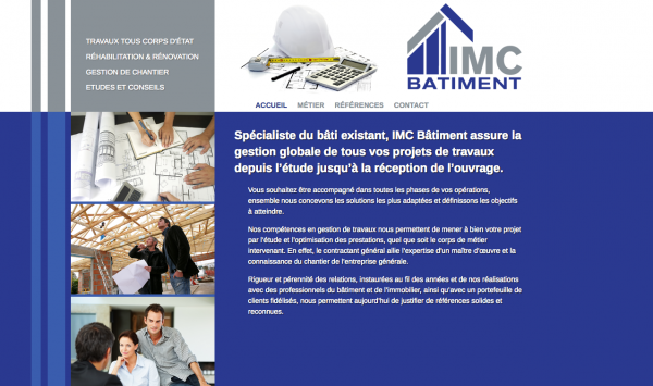 IMC Construction Paris – Site WordPress