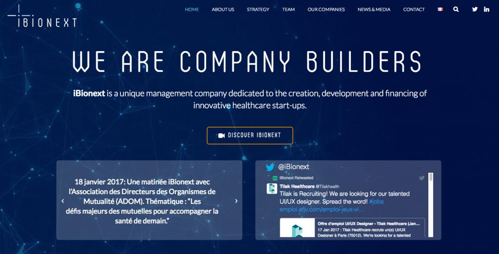 Ibionext – Site internet
