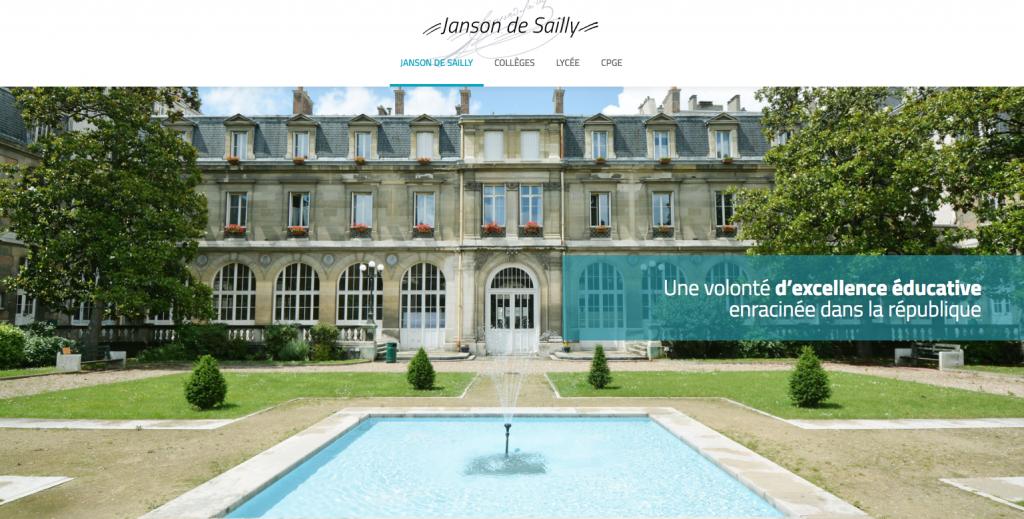 Lycée Janson de Sailly – Site internet