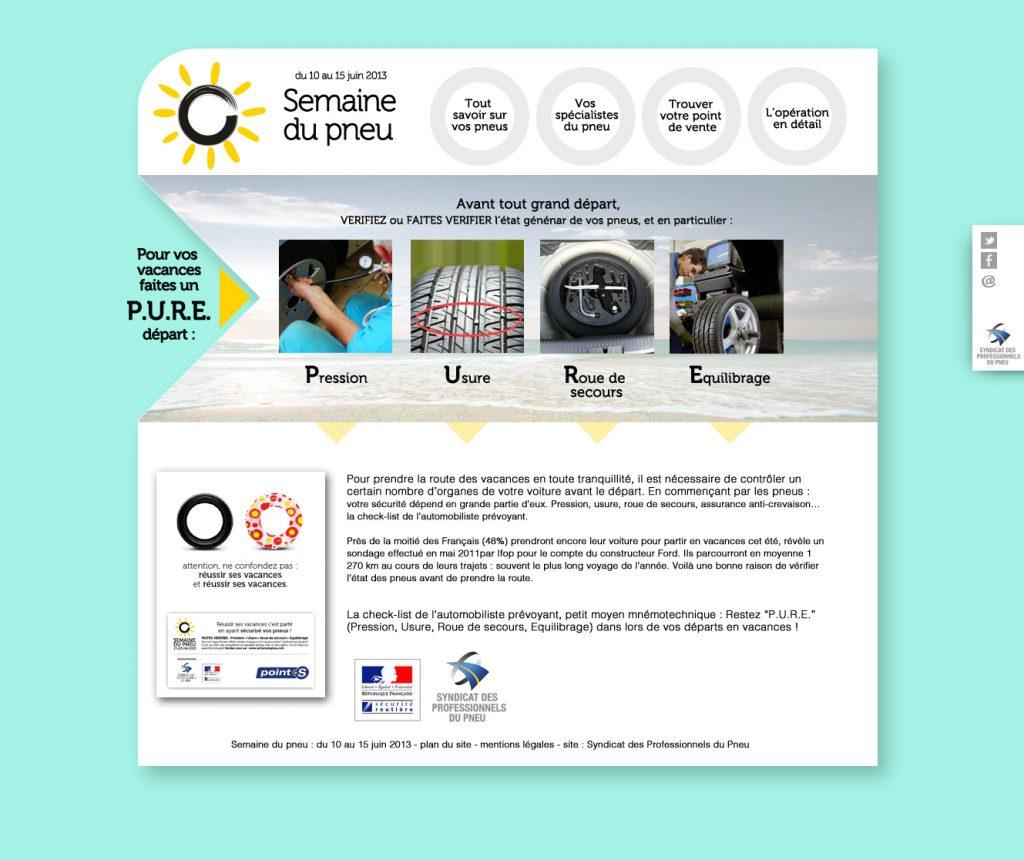 Syndicat des Professionnels du Pneu – Site internet