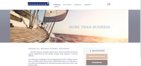 Endeavour – Restructuring Financier Operationnel web site