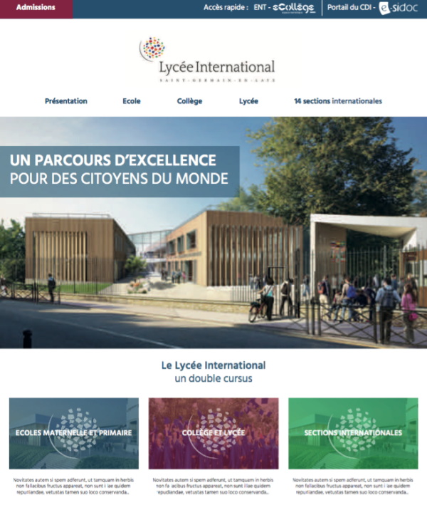 Lycée International de St Germain en Laye – Refonte du site web